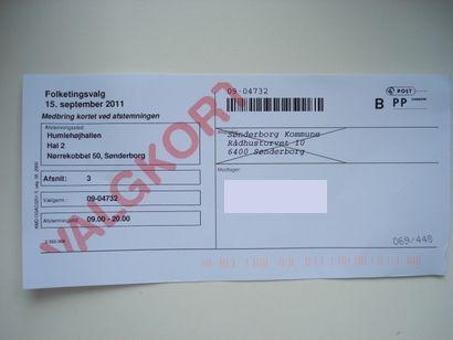 Dán szavazócédula (andersen, )