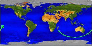 uars zuhanási térképe (uars,)