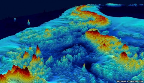 BEDMAP projekt, Antakrtisz (antarktisz, )