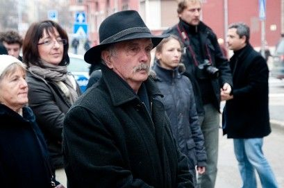 Nagy Benedek szobrászművész a fehérvári avatón (nagy benedek)