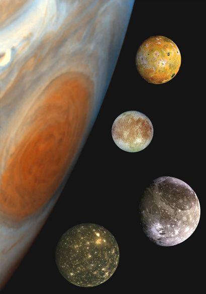 Galilei-holdak (galileo galilei, galileo, galilei-holdak, io, európé, kallisztó, ganümédész, )