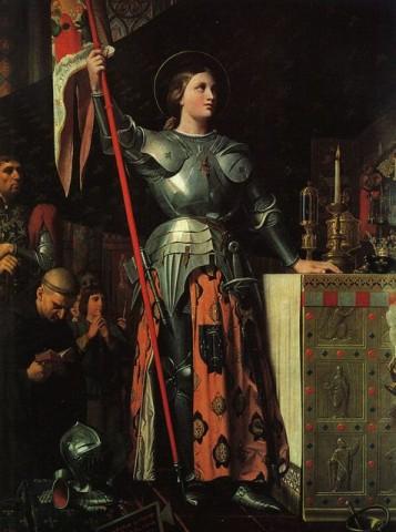 Jeanne dArc VII Károly koronázásánál (jeanne d'arc, orléans-i szűz, szent johanna, vii. károly, )