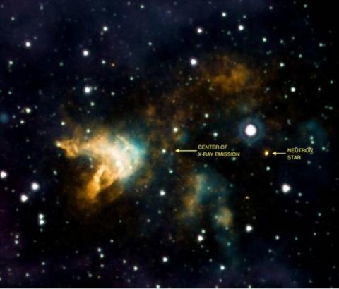 Száguldó neutroncsillag (neutroncsillag, )