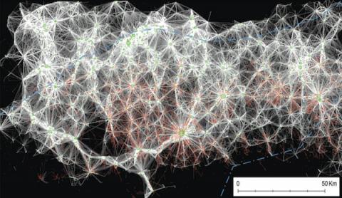 Őskori települések műholdképen (műhold, műholdfelvétel, )