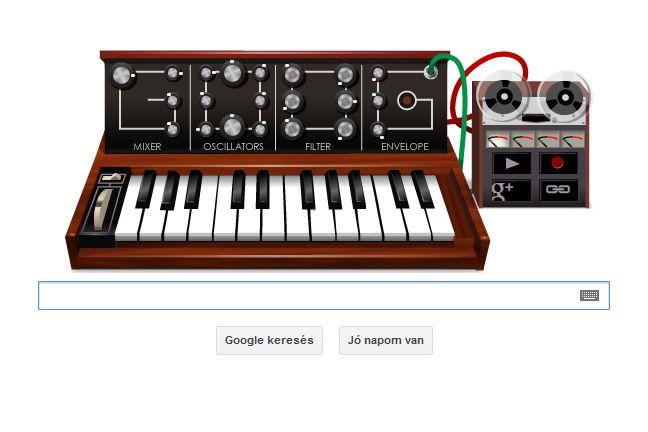 Google Moog-szintetizátor (google, doodle, moog, szintetizátor, )