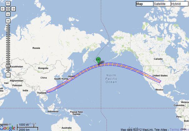 Gyűrűs napfogyatkozás 2012 térkép (gyűrűs napfogyatkozás, napfogyatkozás, )