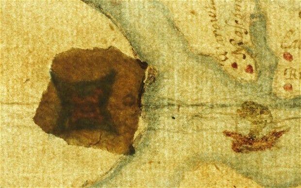 Roanoke térképen a rejtélyes folt (roanoke, térkép, )