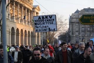 bkv_tüntetés (bkv, szakszervezetek, tüntetés, )