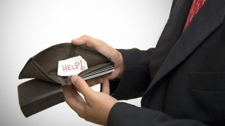 üres pénztárca (pénztárca, államadósság, )