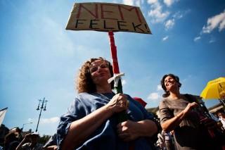 nem félek tüntető (tüntető,)