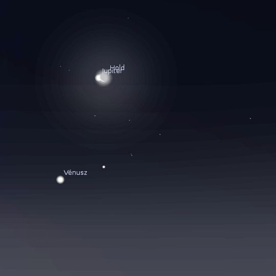 Jupitert fedi a Hold (hold, jupiter, )