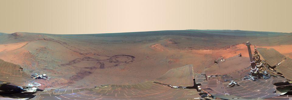 Panorámakép a Marsról (panorámakép, mars, opportunity, )