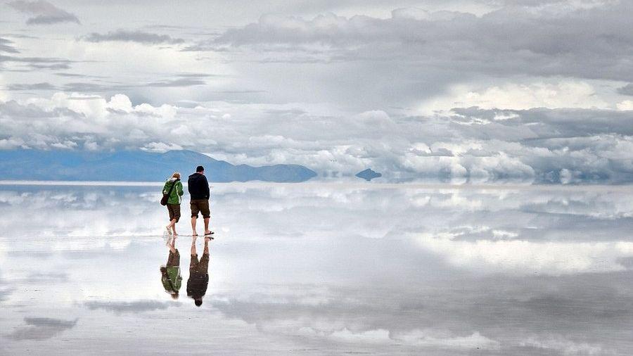 A világ legnagyobb természetes tükre (tükör, sóstó, )