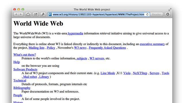 Az internet első oldala (internet, )