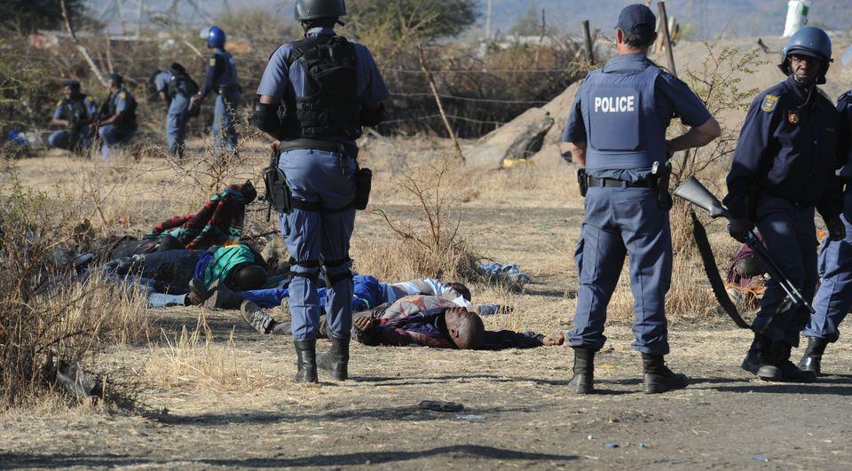 DAfrika bánáyszok (dél-afrika, rendőrség, bányászok, )