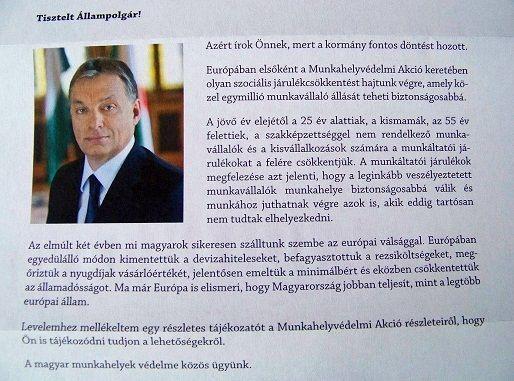 Orbán levele (orbán viktor)