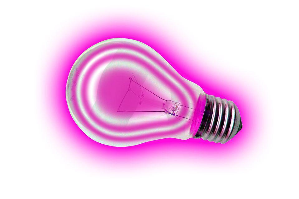 Rózsaszín villanykörte (rózsaszín, villanykörte, körte, )