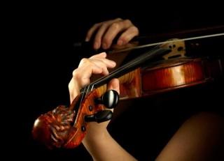hegedülő csaj (hegedű, zene, )