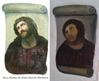 EcceHomo (freskó, restauráció, )