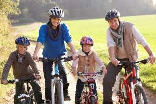 bicikliző-család (kerékpár, )