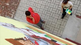 közmunkás lány fest (ingyenes, rákócziújfalu faluház)