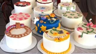 tortadíszítés (tortadíszítő verseny deszken, )
