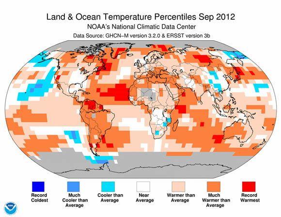Globális átlaghőmérséklet 2012 szeptember (átlaghőmérséklet, )