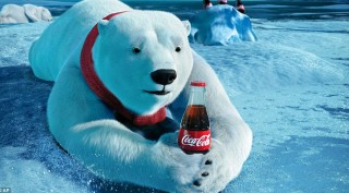 Jegesmedve kólával (kóla, jegesmedve, )