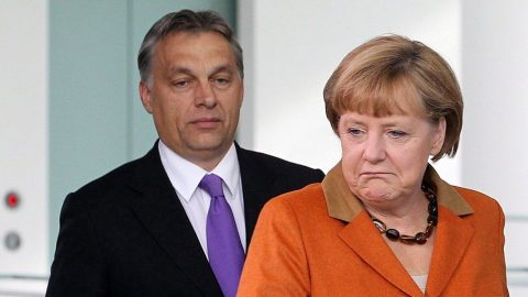 Orbán és Merkel (orbán, merkel)