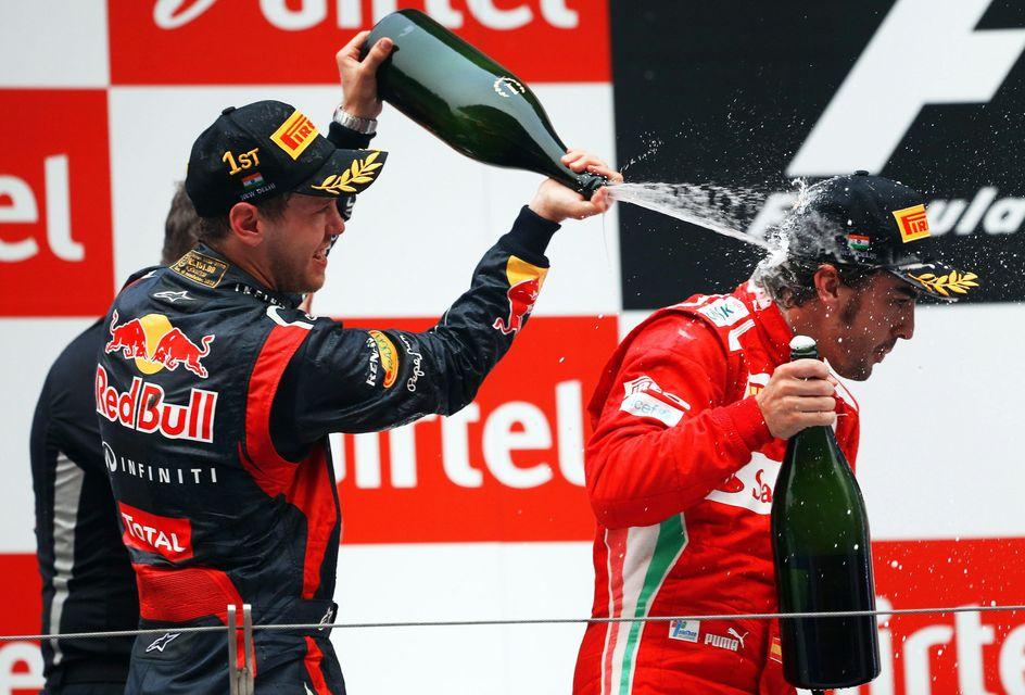 Sebastian Vettel (sebastian vettel, fernando alonso, indiai nagydíj, )