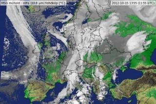 időjárás-műholdkép (időjárás, )