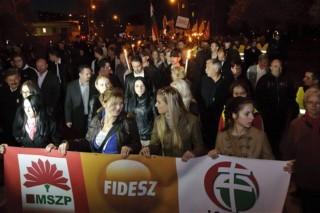 jobbik-tüntetés-Avas (ingyenes, jobbik, tüntetés, miskolc, avas, )