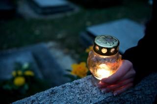 temető-mécses (halottak napja, emlékezés, mécses, )