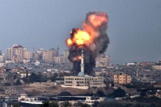 Bombazáporra ébredtek Gázában (gáza, izrael, bombázás, )
