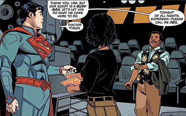 Superman és Dr Tyson (superman, niel degrass tyson, )