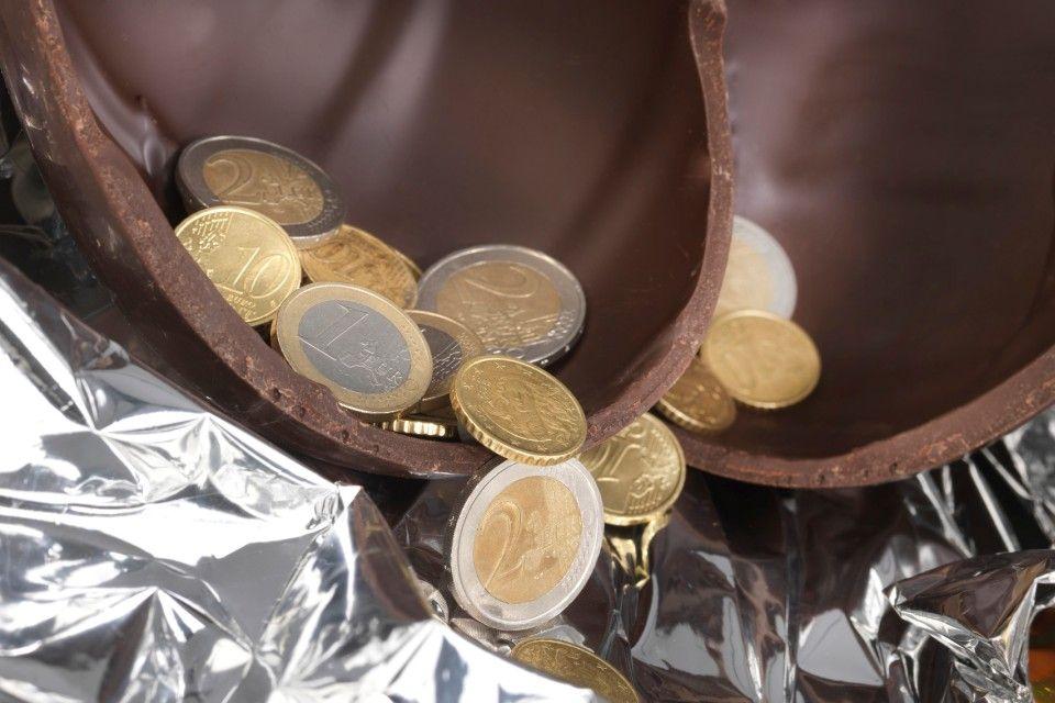 euró-meglepetés (csokitojás, euró, )
