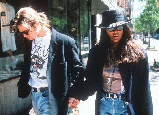 Brad Pitt & Robin Givens (brad pitt, robin givens, )