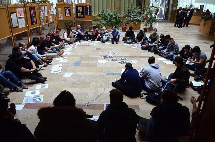 Szegedi egyetemisták elfoglalták a kormányhivatalt (tandíj, keretszám)