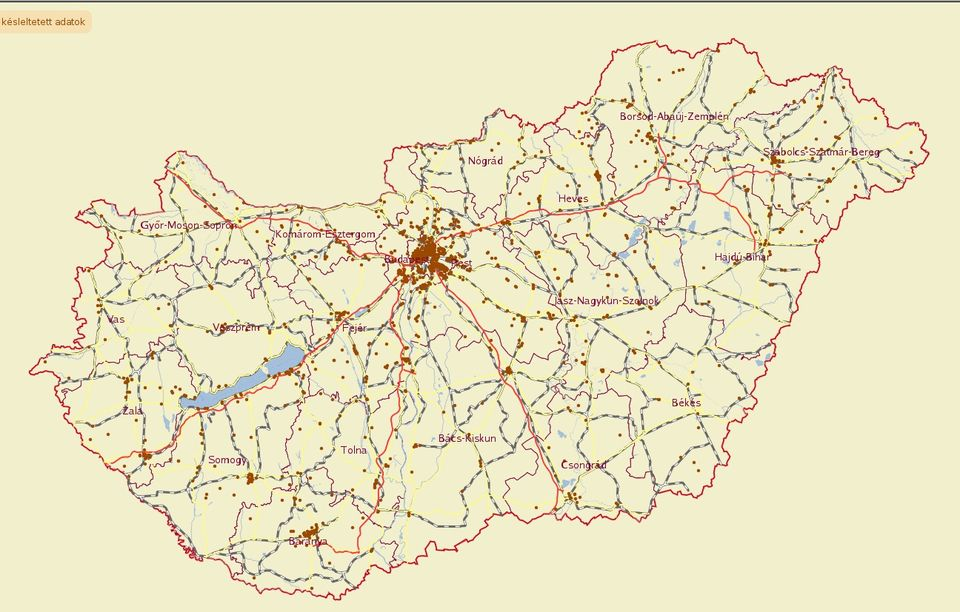 magyarország hu térkép Sokkoló Magyarország bűnügyi térképe | 24.hu magyarország hu térkép