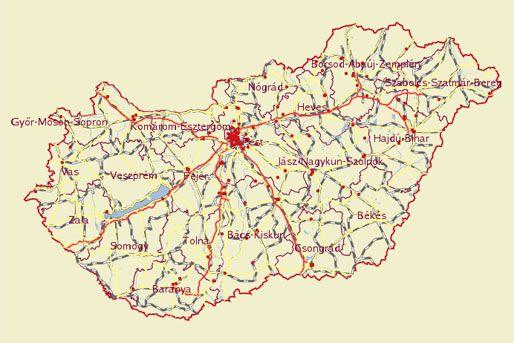 magyarország térkép nyíregyháza Sokkoló Magyarország bűnügyi térképe   24.hu magyarország térkép nyíregyháza