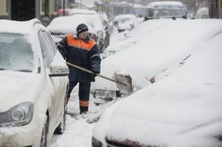 moszkvai tél (havazás moszkvában, )