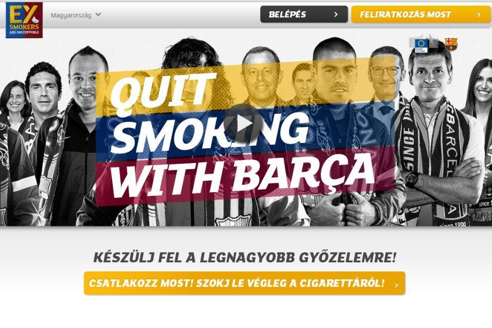 szokj le a dohányzásról a Barcával (szokj le a barcával)
