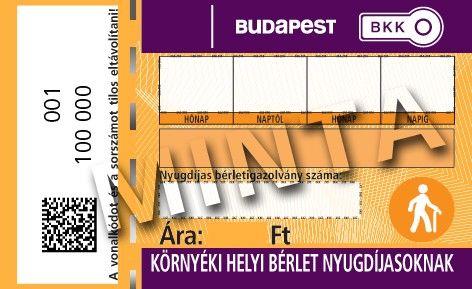 bkv-bérlet (nyugdíjas bérlet, BKV)