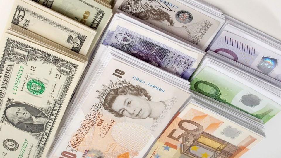 dollár-euro-font (dollár, euró. font)
