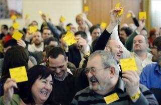 szavaznak az LMP kongresszuson (lmp, kongreszus)