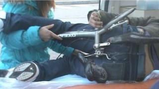 Beszorult bicikliülés (kerékpár, nyereg, rúd, )