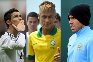 Neymar, tévez és ronaldó (neymar, tévez, ronaldo, )