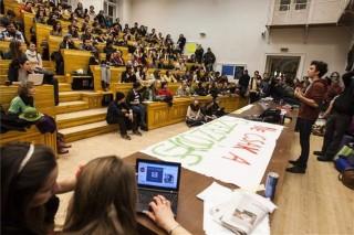elte diáktüntetés haha-fórum (elte demonstráció)