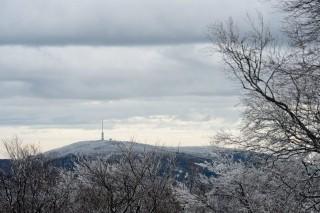 tél a mátrában (felhős, havas, tél, mátra, )
