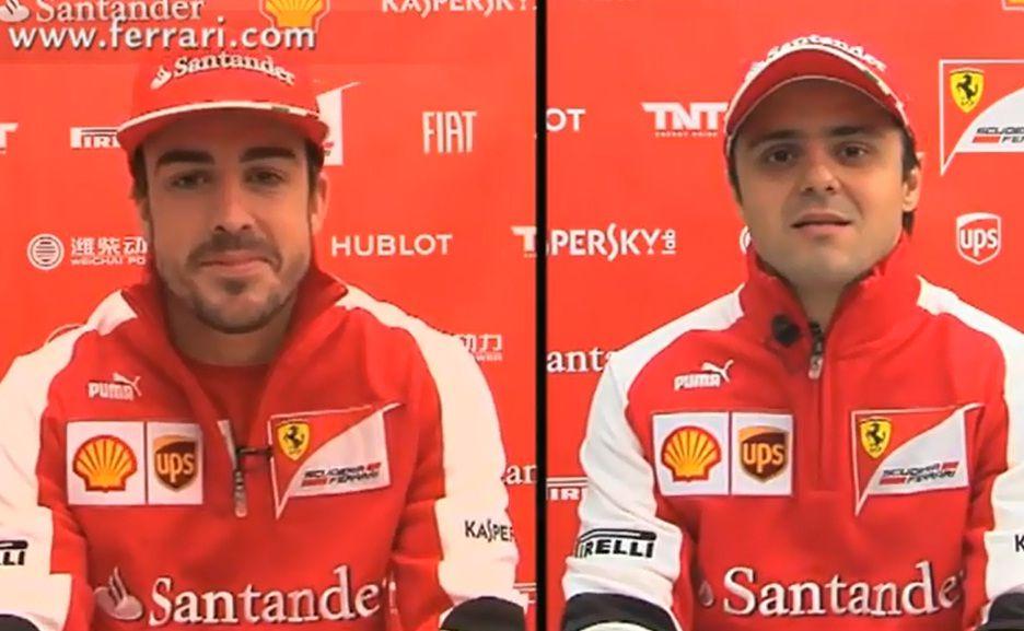 Alonso és Massa (alonso, massa, fernando alonso, felipe massa, )